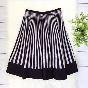 Anthro, Elevenses Black Gray Circle Skirt